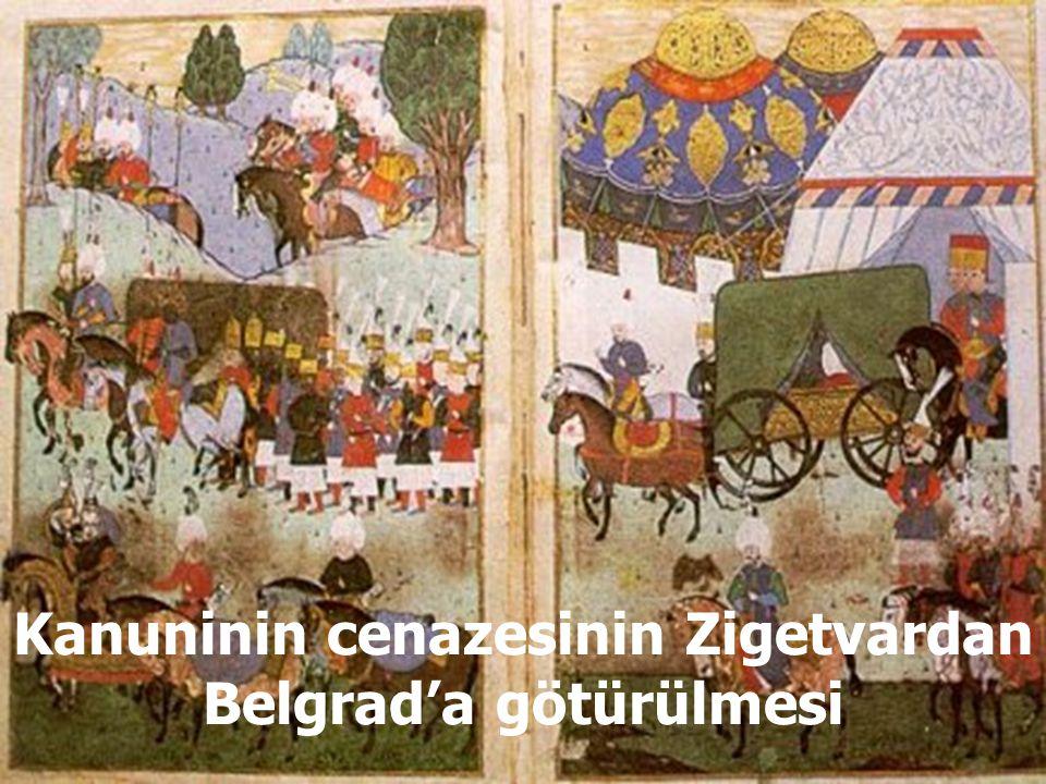 Sultan 2. Selim, Belgrad'da Kanuninin cenazesi başında dua etmesi