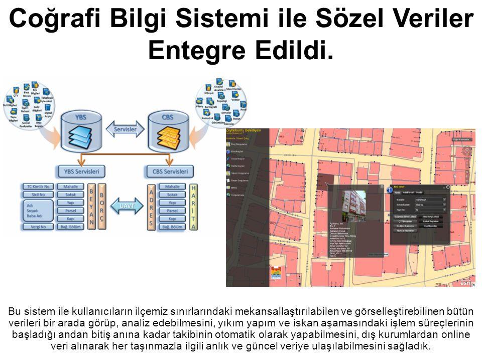 Zeytinburnu Belediyesi Bu sistem ile kullanıcıların ilçemiz sınırlarındaki mekansallaştırılabilen ve görselleştirebilinen bütün verileri bir arada gör
