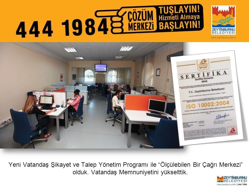 """Zeytinburnu Belediyesi Yeni Vatandaş Şikayet ve Talep Yönetim Programı ile """"Ölçülebilen Bir Çağrı Merkezi"""" olduk. Vatandaş Memnuniyetini yükselttik."""