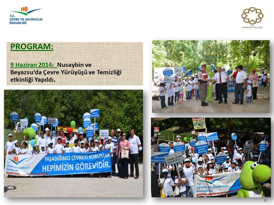 PROGRAM: 9 Haziran 2014: Nusaybin ve Beyazsu'da Çevre Yürüyüşü ve Temizliği etkinliği Yapıldı. 53