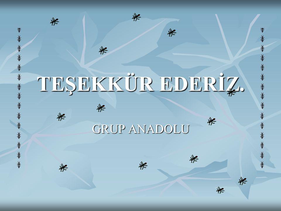 TEŞEKKÜR EDERİZ. GRUP ANADOLU