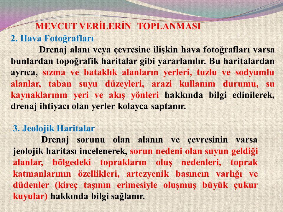 MEVCUT VERİLERİN TOPLANMASI 4.