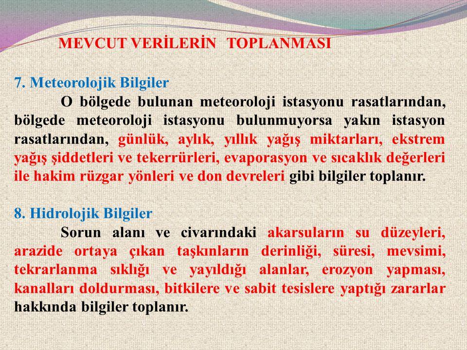 MEVCUT VERİLERİN TOPLANMASI 9.