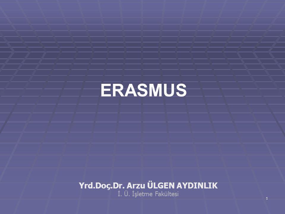 2 ERASMUS'da Stratejik Yönetim anlayışı ERASMUS PROGRAMI'nın Günlük ve olağan işlerinin yönetimi ile değil,  uzun dönemde uygulamasının sürdürebilmesini  uzun dönemde uygulamasının sürdürebilmesini mümkün kılacak etkinlikler ile ilgilidir.