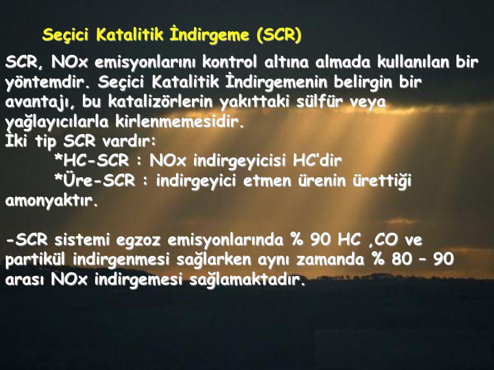 SCR, NOx emisyonlarını kontrol altına almada kullanılan bir yöntemdir. Seçici Katalitik İndirgemenin belirgin bir avantajı, bu katalizörlerin yakıttak