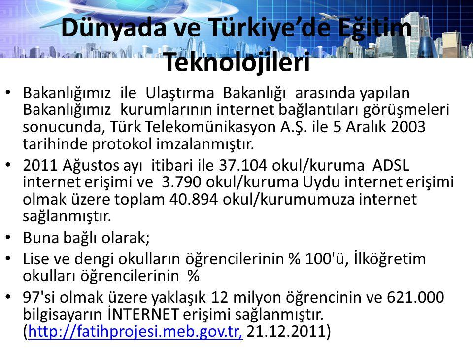 Bakanlığımız ile Ulaştırma Bakanlığı arasında yapılan Bakanlığımız kurumlarının internet bağlantıları görüşmeleri sonucunda, Türk Telekomünikasyon A.Ş