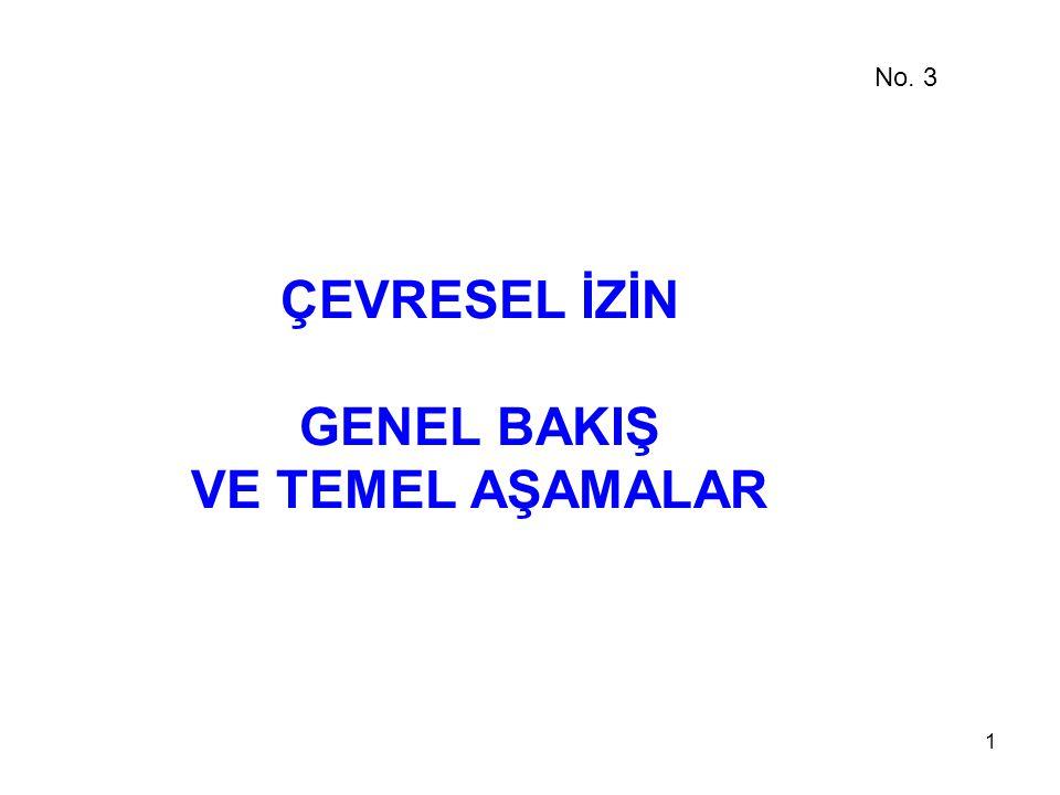 1 ÇEVRESEL İZİN GENEL BAKIŞ VE TEMEL AŞAMALAR No. 3