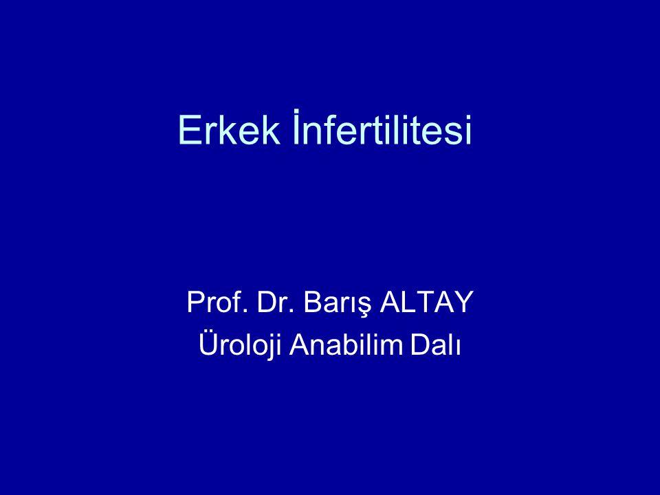 Erkek İnfertilitesi Prof. Dr. Barış ALTAY Üroloji Anabilim Dalı