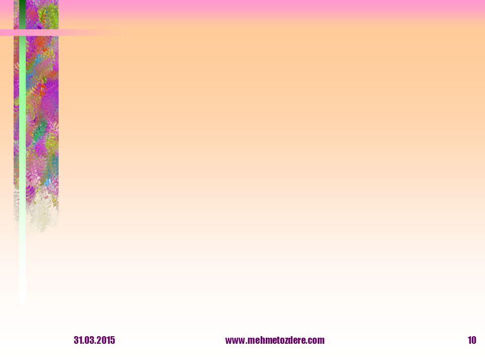 31.03.2015www.mehmetozdere.com10