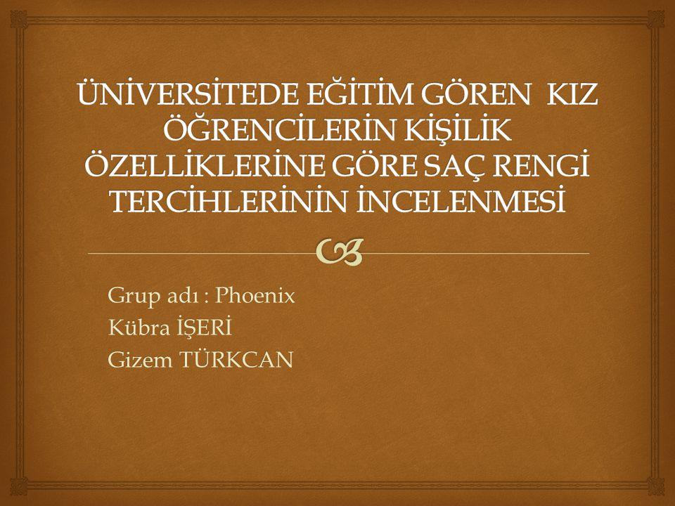   Araştırma Kayseri'de eğitim gören kız öğrencilerin kişilik özelliklerine göre saç rengi tercihleri arasındaki ilişkiye yönelik bilgi toplamak amacıyla yapılmıştır.