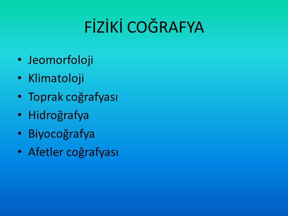 Fiziki coğrafya; insan coğrafyasının alanı olan kültürel çevre aksine, atmosfer, hidrosfer, biosfer ve jeosfer gibi doğal çevrelerin süreç ve değişimlerini inceleyen doğa bilimi dalıdır.coğrafyaatmosferhidrosferbiosferjeosfer