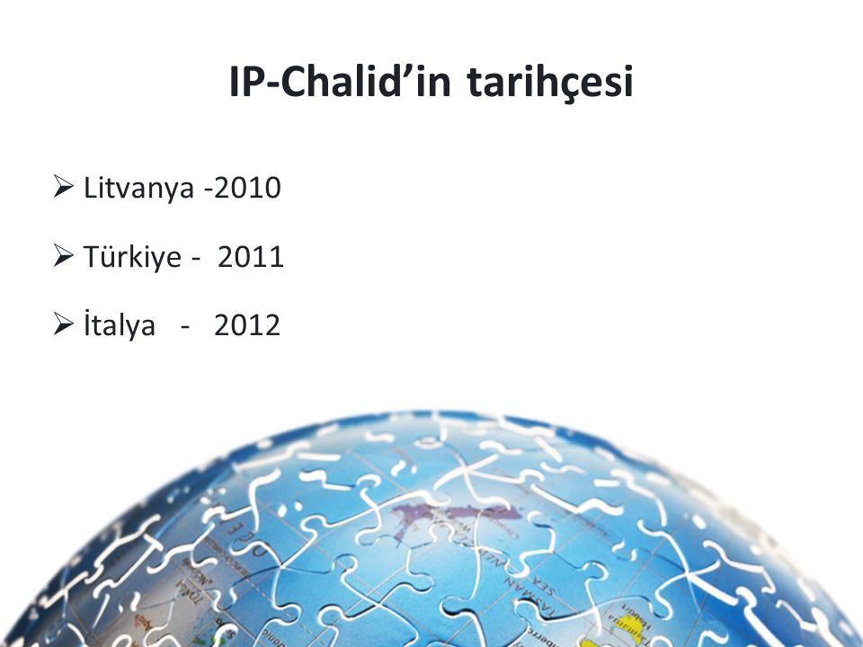 IP-Chalid'in tarihçesi  Litvanya -2010  Türkiye - 2011  İtalya - 2012