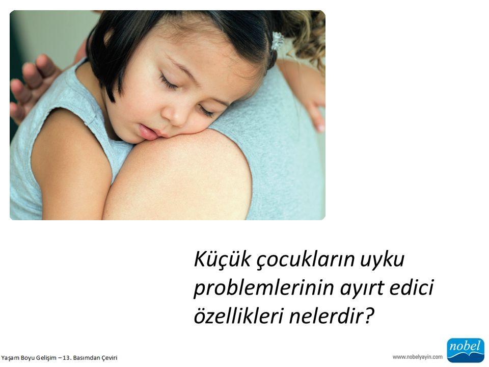 Küçük çocukların uyku problemlerinin ayırt edici özellikleri nelerdir?