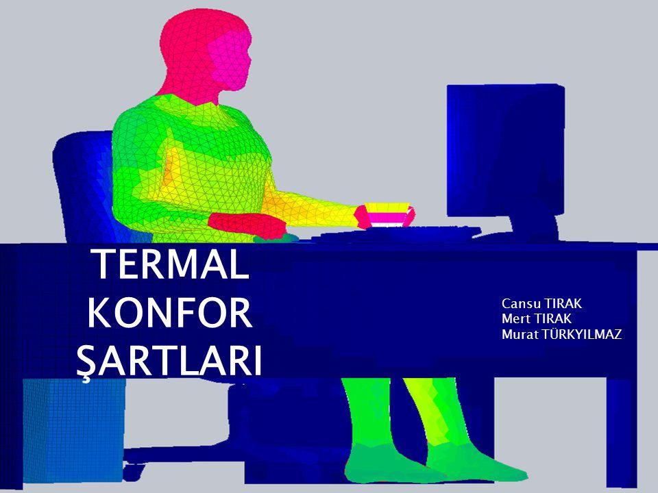 TERMAL KONFOR ŞARTLARI Cansu TIRAK Mert TIRAK Murat TÜRKYILMAZ