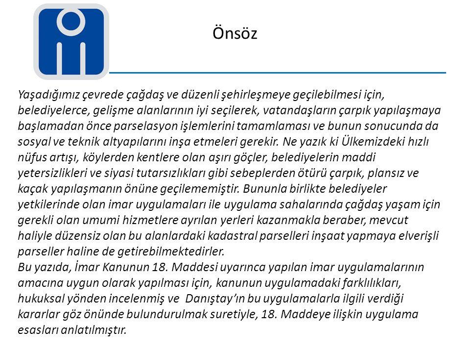 5.Sonuç ve Öneriler 3194 Sayılı İmar Kanununun 18.