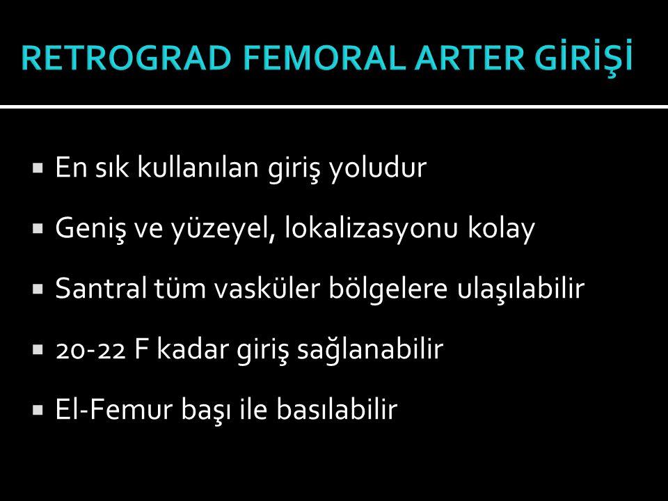  Femoral ven  Brakial, sefalik ve antekübital median ven  İnternal juguler ven  Aksiller,subklavian ven  Teorik olarak her vene girilebilir