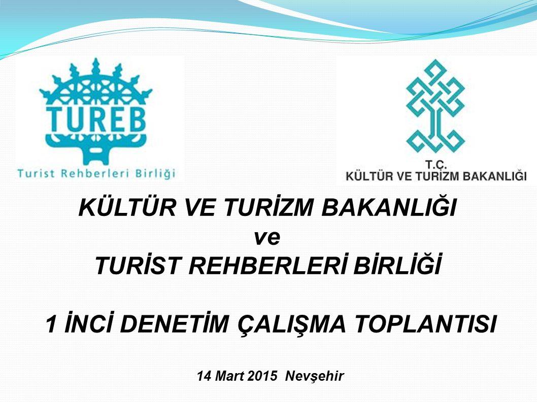 KÜLTÜR VE TURİZM BAKANLIĞI ve TURİST REHBERLERİ BİRLİĞİ 1 İNCİ DENETİM ÇALIŞMA TOPLANTISI 14 Mart 2015 Nevşehir