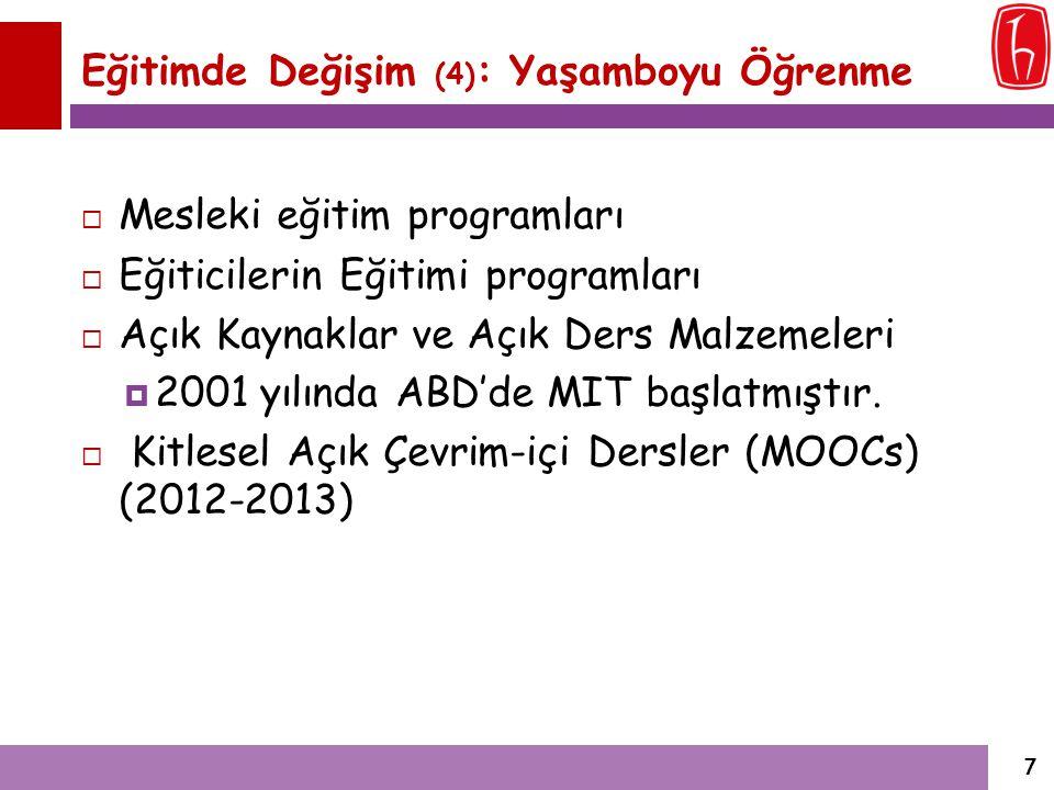 Zorunlu Dersler İçindeki Uygulama Saatlerinin Oranı Üniversite Zorunlu dersler içindeki uygulama saatlerinin oranı P / (P+U) Galatasaray Üniversitesi 9/120 (x14) Hacettepe Üniversitesi 46/175 (x14) Gazi Üniversitesi 0/177 (x14) Dokuz Eylül Üniversitesi 0/80 (x28) Uludağ Üniversitesi 0/154 (x14) 28