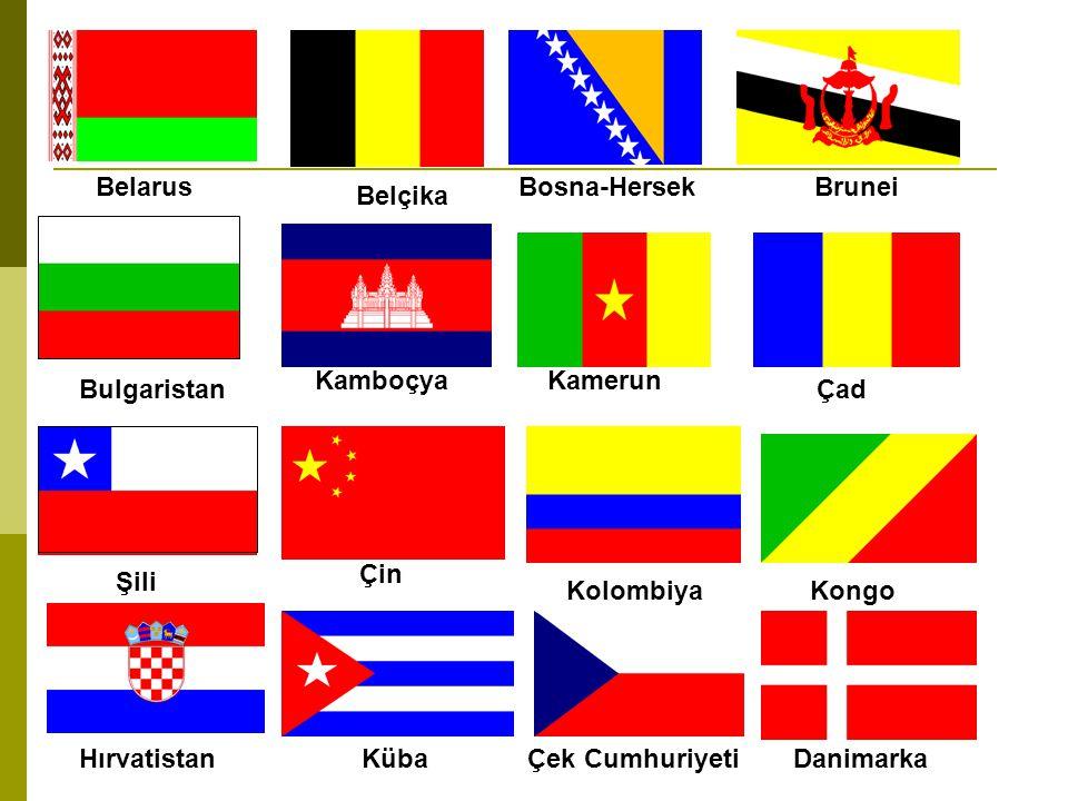 G.Kıbrıs Ekvator Mısır Almanya El Salvador Estonya Etiyopya Finlandiya Fransa Gürcistan Yunanistan Guatemala Gine Macaristan İzlanda Hindistan