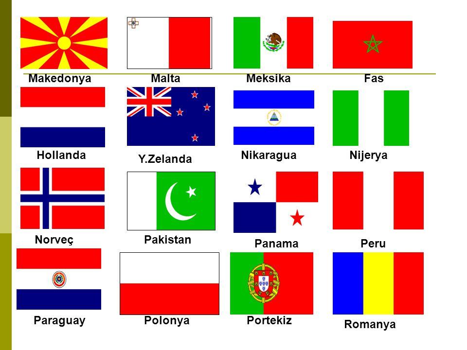 Arabistan Slovenya İspanya Sudan İsveç Suriye Tayvan Tacikistan Tailand Tunus Türkmenistan A.B.D Vatikan Zimbabve Yemen Özbekistan