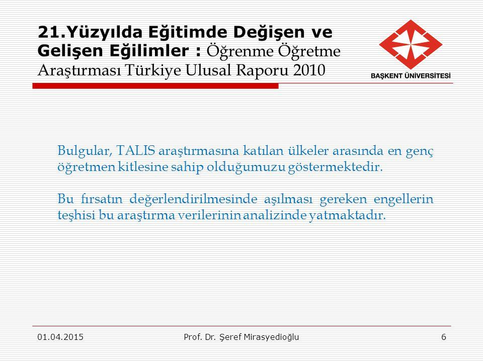 01.04.2015Prof.Dr. Şeref Mirasyedioğlu8701.04.2015Prof.