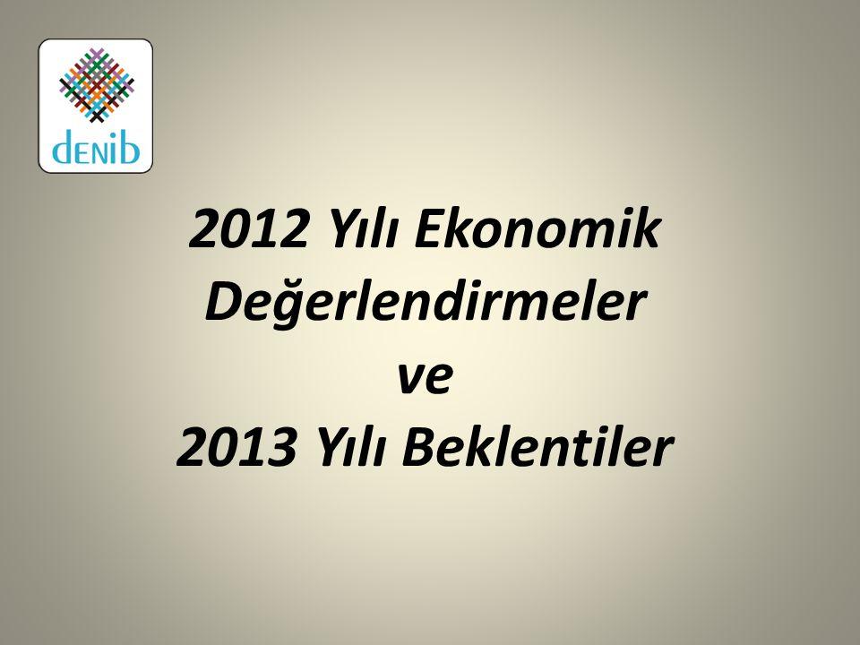 2012 Yılı Ekonomik Değerlendirmeler ve 2013 Yılı Beklentiler