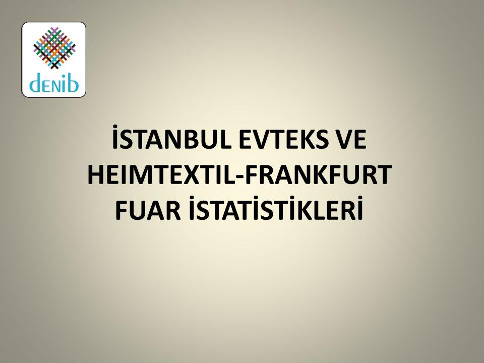 İSTANBUL EVTEKS VE HEIMTEXTIL-FRANKFURT FUAR İSTATİSTİKLERİ