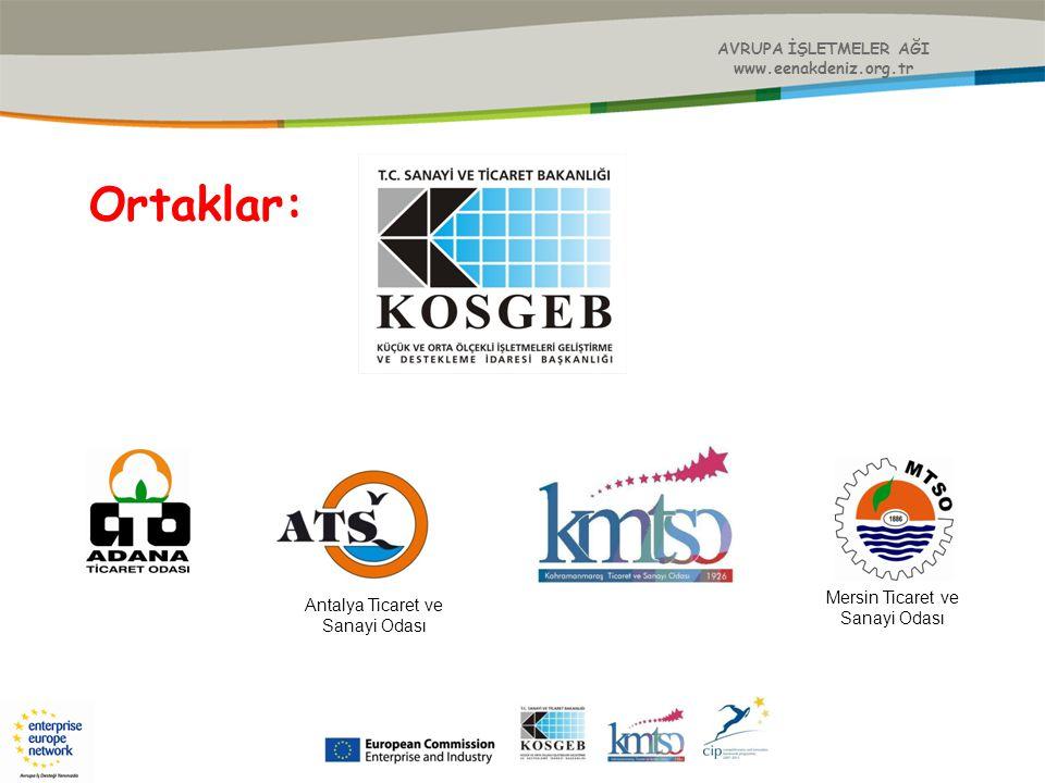 AVRUPA İŞLETMELER AĞI www.eenakdeniz.org.tr 21 Haziran 2010 İşletmelerde Enerji Verimliliği ve Finansmanı Konferansı 6 Temmuz 2010 Esof 2010 Konferansı Kapsamında İkili İşbirliği Görüşmeleri 08 Temmuz 2010 20.Yılında KOSGEB Yeni Destek Modelleri'' 18-22 Temmuz 2010 57.Uluslararası Şam Ticaret Fuarı ve İkili İşbirliği Görüşmeleri