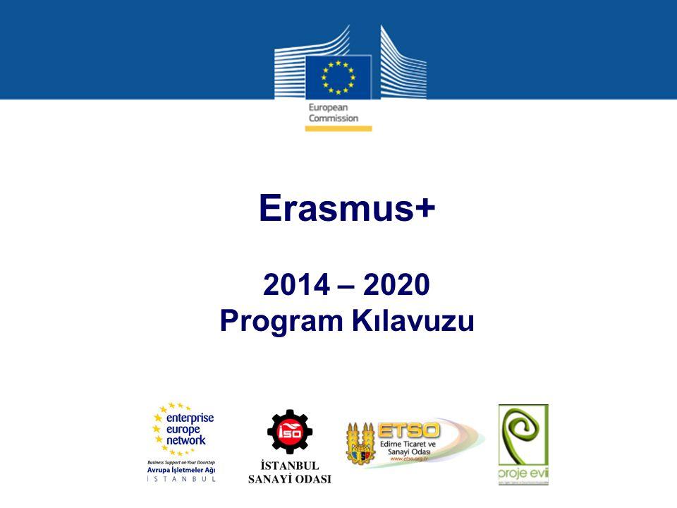 Erasmus+ programının yapısı (7) ANA EYLEM 3 – Politika reformuna destek aşağıdaki faaliyet türlerini destekleyecektir (devam): Resmi yetkililer, öğretim, eğitim ve gençlik alanında hizmet verenler ve paydaşlar arasında Avrupa 2020, Öğretim ve Eğitim 2020, Avrupa Gençlik Stratejisi ve diğer sektöre özel Avrupa politikaları ile AB öğretim, eğitim, gençlik politikalarının harici boyutu hakkında farkındalık oluşturmak için paydaş diyaloğu, politika ve programın tanıtımı gereklidir.