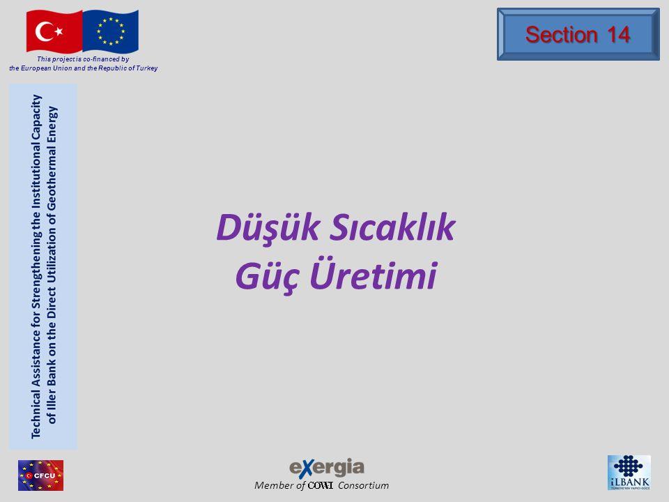 Member of Consortium This project is co-financed by the European Union and the Republic of Turkey İçerik Birinci bölüm Düşük Entalpi(T<120 0 C) Jeotermal Güç Üretimi İkinci Bölüm Jeotermal ikili güç santralleri için tasarım yaklaşımları Jeotermal ikili güç santralleri için tasarım yaklaşımları Üçüncü Bölüm Verimli Düşük Sıcaklık Jeotermal İkili Güç LOW-BIN Projesi - DG- TREN