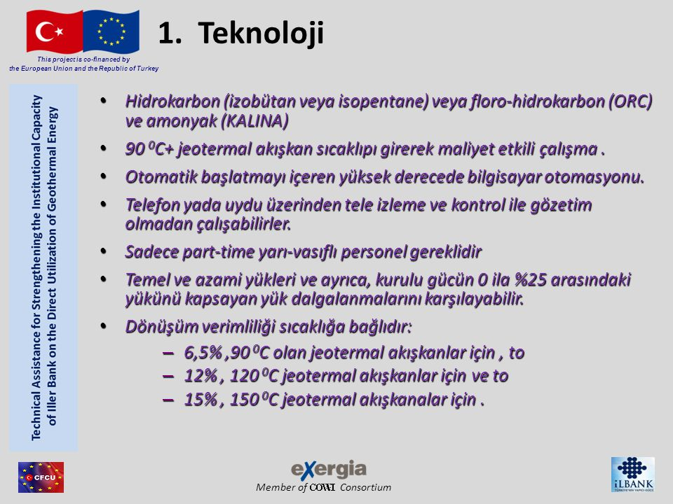 Member of Consortium This project is co-financed by the European Union and the Republic of Turkey 1.