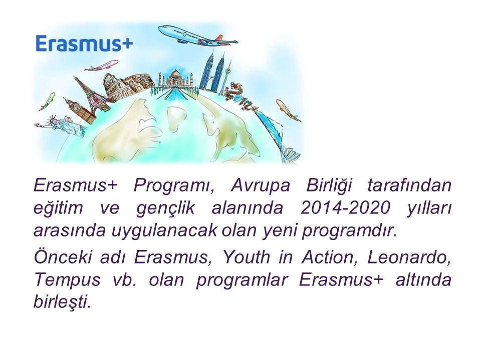 Erasmus+ Programı, Avrupa Birliği tarafından eğitim ve gençlik alanında 2014-2020 yılları arasında uygulanacak olan yeni programdır. Önceki adı Erasmu