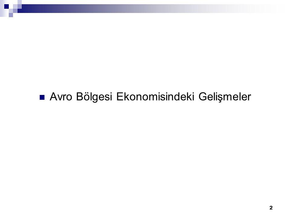 2 Avro Bölgesi Ekonomisindeki Gelişmeler