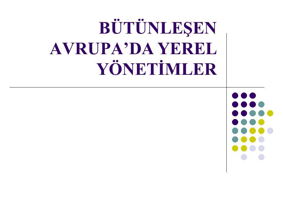 GİRİŞ Bu çalışmada Kamu Yönetimi Temel Kanunu Tasarısı (KYTKT) ve Mahalli İdareler Kanun Tasarıları'nın (MİKT), Avrupa birliği'ni oluşturan ülkelerin yerel yönetim sistemleri ve yerelleşme dinamikleri ışığında değerlendirilmesi hedeflenmektedir.