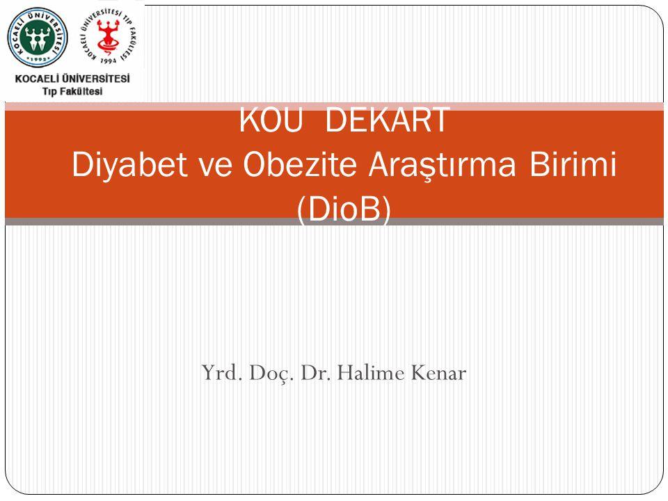 Yrd. Doç. Dr. Halime Kenar KOU DEKART Diyabet ve Obezite Araştırma Birimi (DioB)