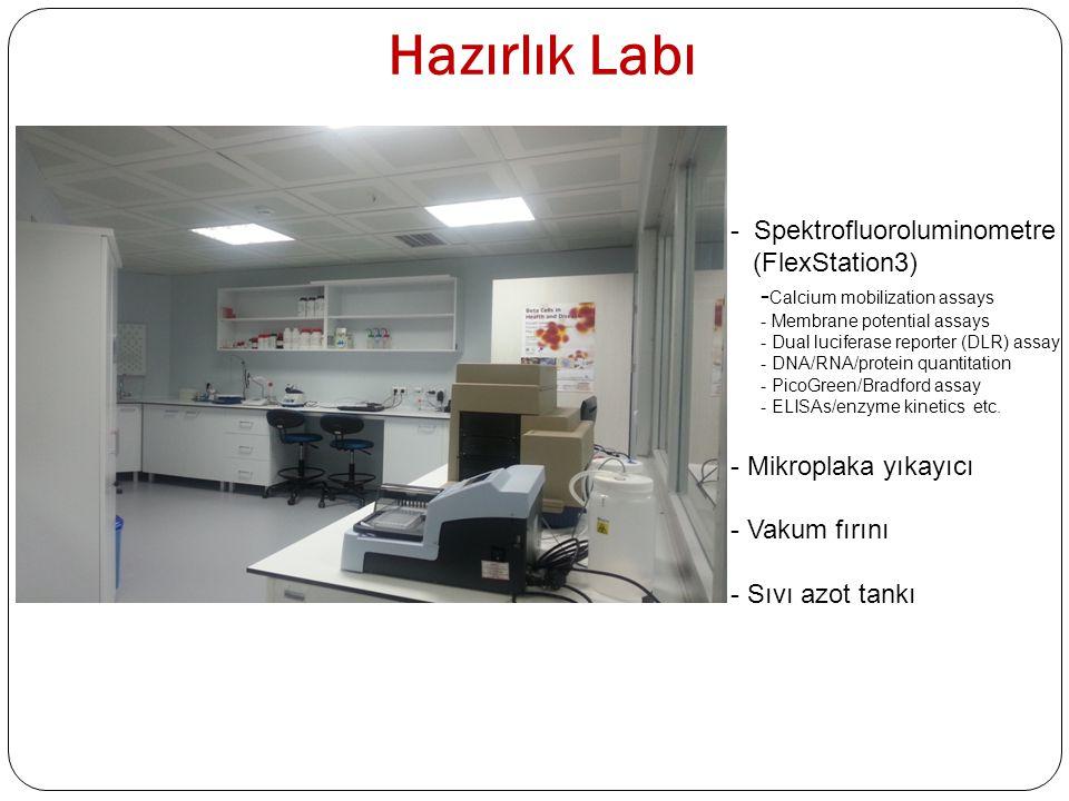 Adacık Labı - Biyolojik güvenlik kabini (Class II) - CO 2 li inkübatör - Stereo mikroskop - Termomikser - Çalkalamalı su banyosu - (- 86 o C) Derin Dondurucu