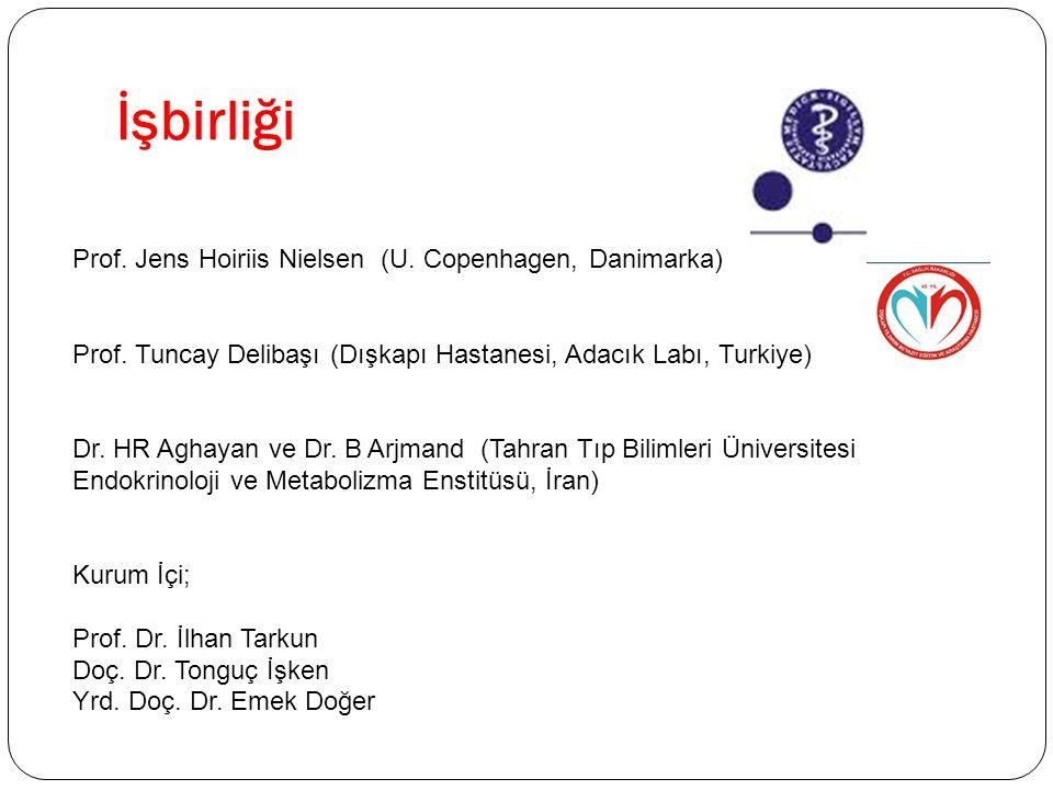 İşbirliği Prof. Jens Hoiriis Nielsen (U. Copenhagen, Danimarka) Prof. Tuncay Delibaşı (Dışkapı Hastanesi, Adacık Labı, Turkiye) Dr. HR Aghayan ve Dr.