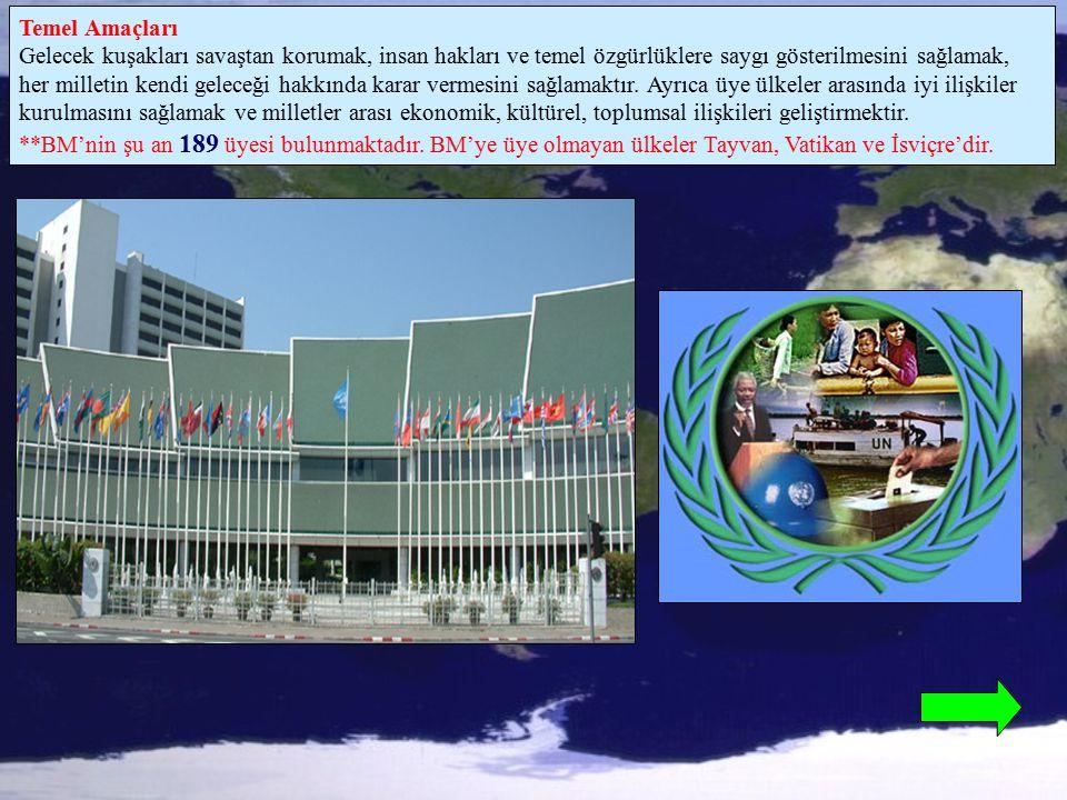 ***Yapısı BM'nin 6 ana birimi vardır.