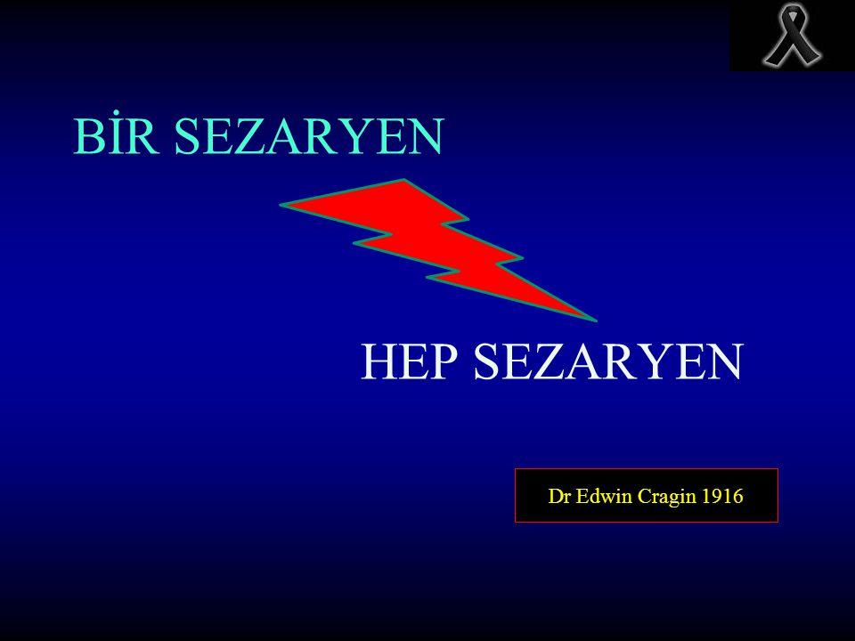 Dr Edwin Cragin 1916 BİR SEZARYEN HEP SEZARYEN
