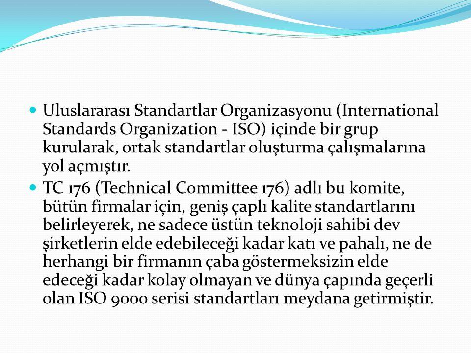 Uluslararası Standartlar Organizasyonu (International Standards Organization - ISO) içinde bir grup kurularak, ortak standartlar oluşturma çalışmalarına yol açmıştır.