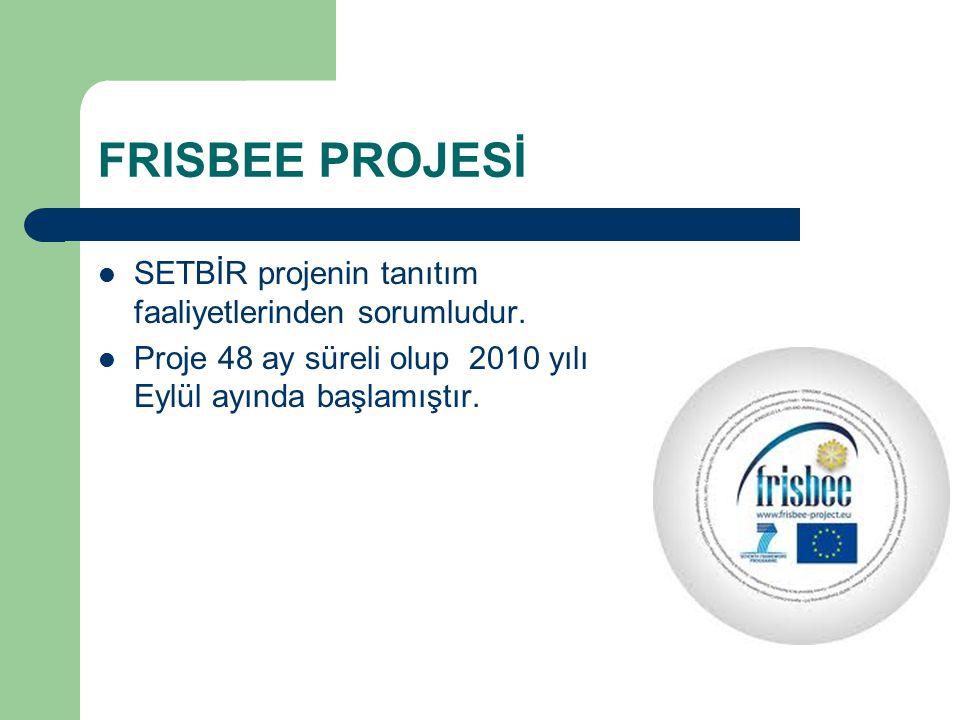 SETBİR projenin tanıtım faaliyetlerinden sorumludur.