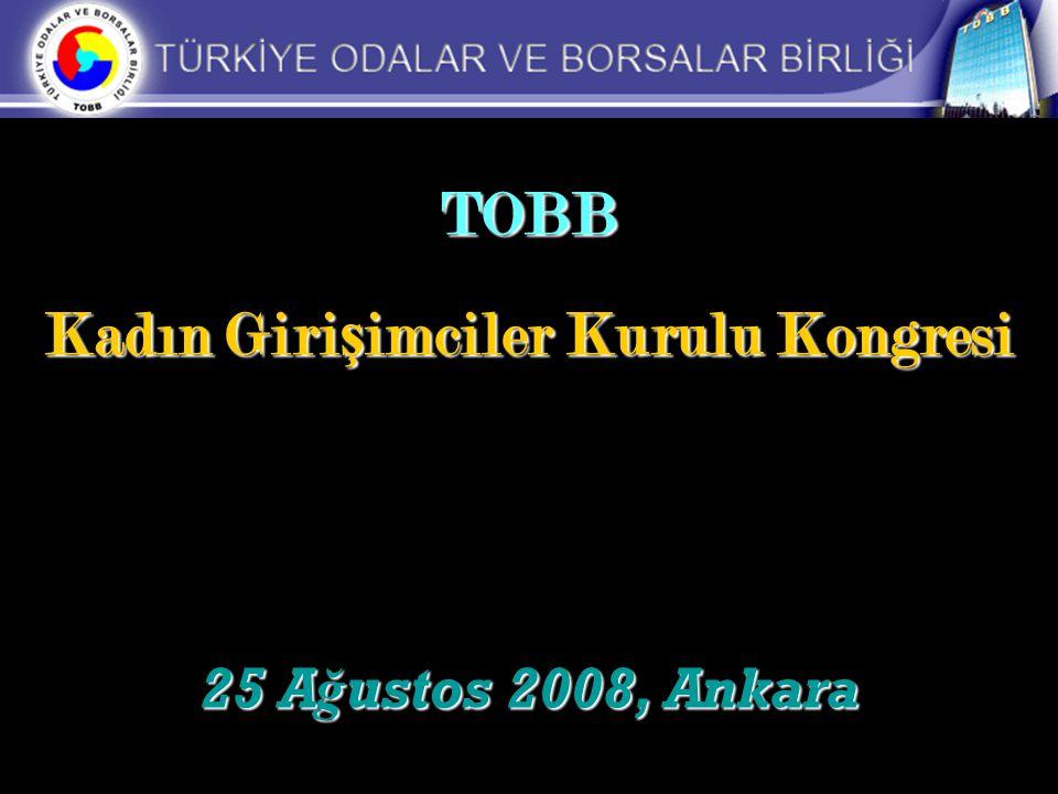 TOBB Kadın Giri ş imciler Kurulu Kongresi 25 A ğ ustos 2008, Ankara