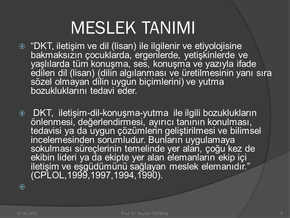 DKT MESLEĞİNİN ÖZERKLİĞİ- AUTONOMOUS-LIBERAL PROFESSION  In its exact definition, autonomy means self-government.