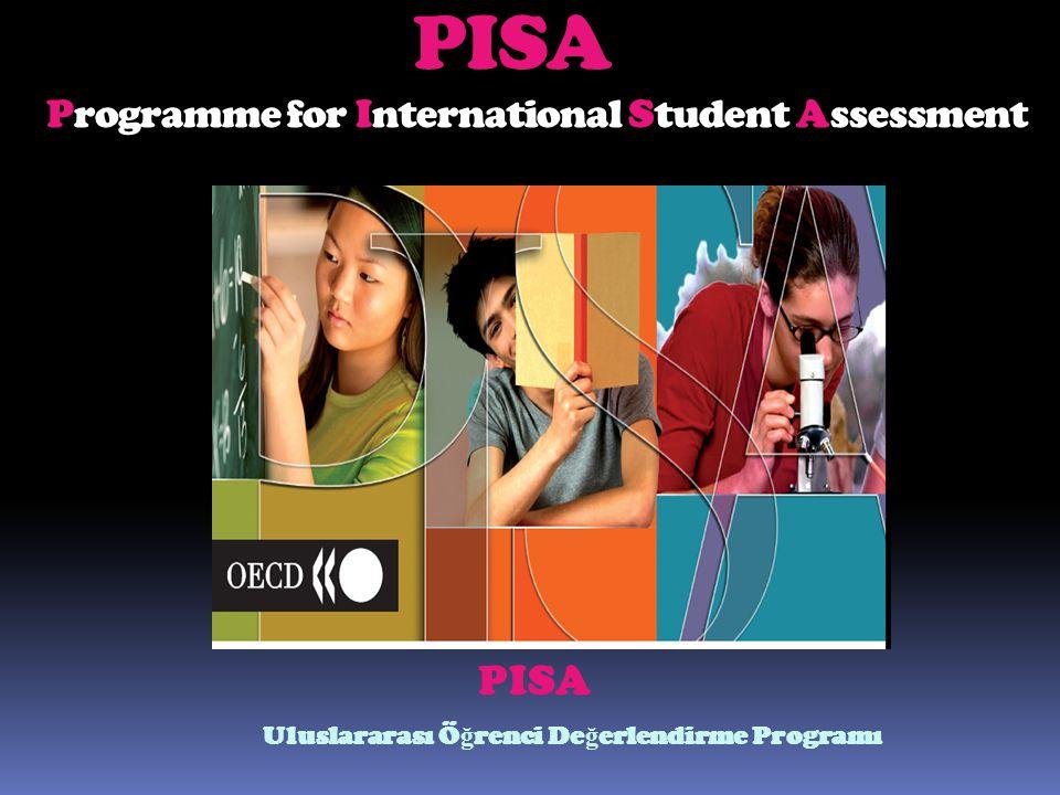 PISA Programme for International Student Assessment P ISA Uluslararası Ö ğ renci De ğ erlendirme Programı