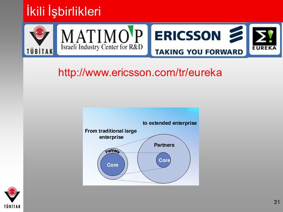 31 İkili İşbirlikleri http://www.ericsson.com/tr/eureka