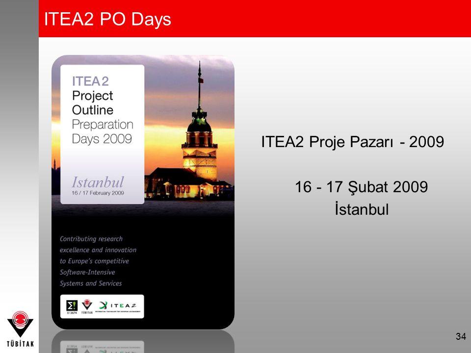 ITEA2 PO Days ITEA2 Proje Pazarı - 2009 16 - 17 Şubat 2009 İstanbul 34