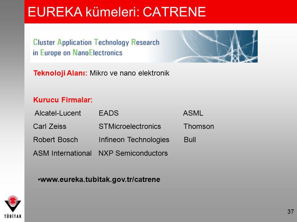 EUREKA kümeleri: CATRENE 37 Teknoloji Alanı: Mikro ve nano elektronik Kurucu Firmalar: Alcatel-Lucent EADS ASML Carl Zeiss STMicroelectronics Thomson