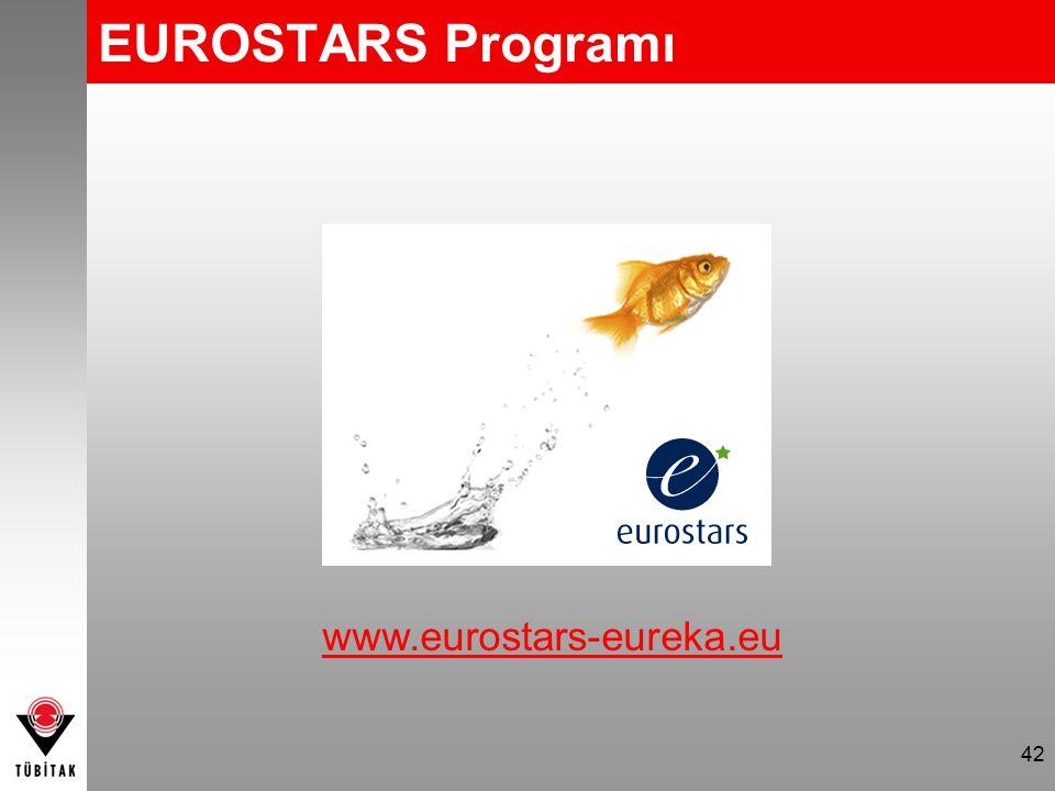 42 www.eurostars-eureka.eu EUROSTARS Programı