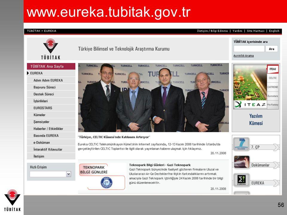 www.eureka.tubitak.gov.tr 56