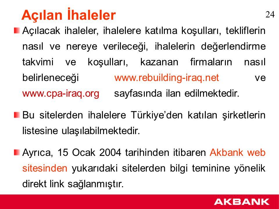 Türkiye – Irak Ticareti tablosu Kaynak: Dış Ticaret Müsteşarlığı 25